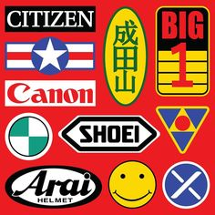All of the decals (I think) from Kaneda's bike. All of the decals (I think) from Kaneda's bike. Motorcycle Stickers, Bike Stickers, Akira Tetsuo, Kaneda Bike, Akira Kaneda, Akira Anime, Collages, Katsuhiro Otomo, Anime Store