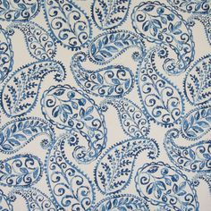 Excited to share this item from my #etsy shop: Covington Jennifer Adams BLOOMFIELD Large Scale Paisley BLUEBELL Blue Drapery Sewing Fabric - Sold By the Yard Paisley Fabric, Paisley Pattern, Blue Fabric, Paisley Print, Paisley Design, Floral Fabric, Drapery Fabric, Fabric Decor, Fabric Design