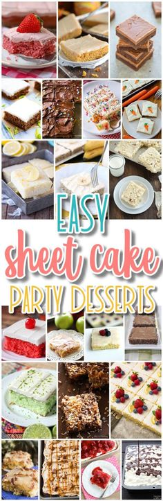 The Best EASY Sheet Cakes Recipes - Simple and Quick Party Crowds Desserts for Holidays, Special Occasions and Family Celebrations - Dreaming in DIY