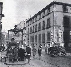 Madrid antiguo. Palacio Bauer, en San Bernardo. construido en el siglo XVIII