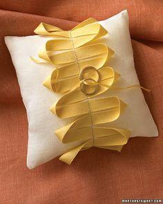 DIY ring pillow