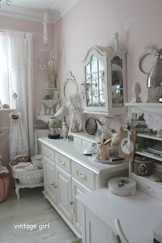 Vintage Girl.....gives a great look to craft room, charming furniture