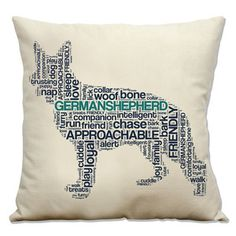 German Shepherd Pillow, $27, now featured on Fab.