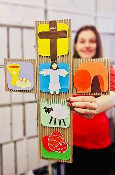 Se apropie ziua sfântă a Paștelui 🌿🐑🌟 Pentru a putea explica, într-un mod mai creativ, copiilor jertfa Mielului pe Cruce puteți realiza, împreună cu cei mici, acest colaj din materiale de la cutii și câteva foi colorate. Christos s-a jertfit din iubire pentru noi ca să devenim asemenea lui. Sa alegem tot timpul ❤️ IUBIREA ❤️ și să ne iubim unii pe alții așa cum El ne-a iubit pe noi. Astfel să devenim frați între noi și fii ai lui Dumnezeu. 🙏😇 Crafts For Kids, Pastel, Honey, Crafts For Children, Cake, Kids Arts And Crafts, Kid Crafts, Crayon Art, Craft Kids