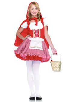 Little red riding hood costume for teens🔴🎃