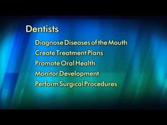Dentists: Doctors of Oral Health A video from the American Dental Association Preventive Dentistry, Sedation Dentistry, Implant Dentistry, Dental Implants, Dental Veneers, Dental Braces, Dental Care, Oral Health, Dental Health
