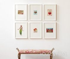 DIY Home Decor: DIY Wall Art: DIY How to frame and display art and gallery wall