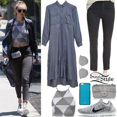 Gigi Hadid was spotted arriving at Zinque in West Hollywood wearing a Rachel Pally Lissa Printed Top ($34.99), a Native Youth Satin Touch Maxi Shirt Dress ($65.00), Hudson Jeans Barbara High Waist Skinny Jeans ($79.99), a Chanel Python Extra Mini Flap Bag (Sold Out), Gentle Monster X Kong Hyo Jin Type 2 Sunglasses ($270.00), a Vianel iPhone 6/6s Plus Turquoise Lizard Case ($110.00) and Nike Free 4.0 Flyknit Running Shoes ($99.99).