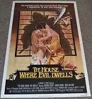 HOUSE WHERE EVIL DWELLS 1982 ORIGINAL 27x41 MOVIE POSTER! HORROR EXPLOITATION! - 1982, 27x41, DWELLS, Evil, EXPLOITATION, HORROR, HOUSE, Movie, ORIGINAL, Poster
