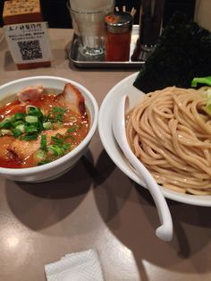 "You can eat tomato noodle at ""Itsutsunokami"" in Shinjyuku at Tokyo!"