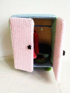 "Amigurumi Doll Furniture: Pastel Closet - Free Crochet Pattern - PDF File- Click ""download  now"" here:  http://yaprakamigurumi.blogspot.de/p/free-pattern-yapraks-pastel-closet.html"