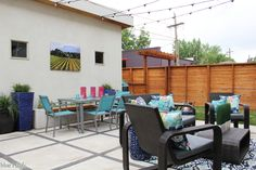 We transformed our small, urban backyard into a relaxing and inviting outdoor living room perfect for entertaining, with plenty of space for adults and kids alike!