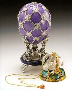 Imperial Faberge Egg - The Swan Egg Commisioned in 1906 by Tsar Nicholas II, the egg was presented to the Dowager Empress Maria Feodorovna on Easter that year for her 40th Wedding Anniversary