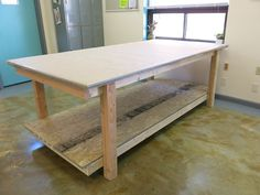 Professional sewing and drafting table - lots of pic's on link of how it's built + of what.