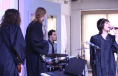 """Band It performed their song """"Entertainment"""" at this year's graduation featuring members:  Lya Lopez (Vocals) Tyler McCarthy (Guitar) Alistair Lasken (Bass) Diego Ruvalcaba (Drums)"""
