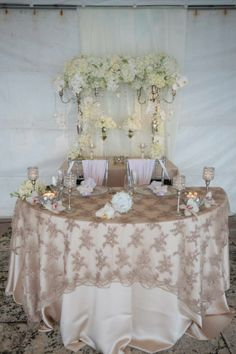 Sweetheart Table for Bride and groom exclusively designed by Divina Event Designs!
