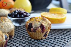 whole wheat orange blueberry muffin for super healthy kids
