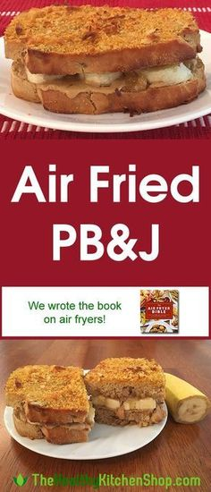 Air Fryer Recipe - Fried PB&J - The Air Fryer Bible Cookbook: More Than 200 Healthier Recipes for Your Favorite Foods This air fryer recipe takes the boring old PB&J to a whole other level, a delicious and hearty sandwich for breakfast, brunch, or lunch! Air Fryer Recipes Breakfast, Air Fryer Oven Recipes, Air Fryer Dinner Recipes, Air Fryer Recipes Vegetarian, Paleo Breakfast, Air Fryer Deals, Gourmet Recipes, Cooking Recipes, Cooking Tips