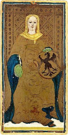 The Empress. Visconti Sforza Deck. More information available @ thetarotcard.com !