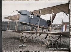 Albert Kahn, WWI - French biplane. Looks like a Breguet, or possibly a variation of the Voisin V?
