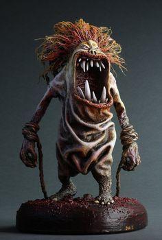 Red Hair Troll by DugStanat on DeviantArt Pottery Sculpture, Sculpture Art, Sculptures, Creepy Art, Creepy Dolls, Fantasy Kunst, Fantasy Art, Red Hair Troll, Clay Monsters