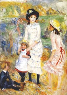 Children by the Sea in Guernsey - Pierre-Auguste Renoir - WikiPaintings.org