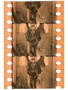 Nitrate film frame clippings from the Turconi Collection