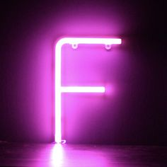 Neon Pink Light Up Letter - F