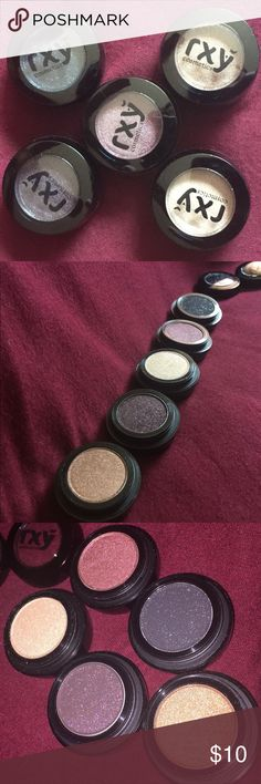 RXY Cosmetic Eye Shadow RXY Eye Shadows. 5 shimmer shadows... 1.Honey Lust 2.Eclipse 3.Embark 4.Cranberry 5.Bing  Sorry I can't describe the colors how it should be. Not Swatch new product. Never Been Use 💯 Authentic 🚫Trade 🚫 Price Firme🚫 RXY Cosmetics Makeup Eyeshadow