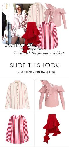 """Kendall Jenner - Red Stripe!"" by wardrobementor on Polyvore featuring A.W.A.K.E., self-portrait, Balenciaga and Jacquemus"