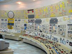 I feel like this is an important one:  I love the aesthetic of places like this, where there's tons of action, dials, gauges, switches just like this, but only if it's like the photo above - not modern control room stuff with all screens and monitors - I really prefer the aesthetic of the analog age.