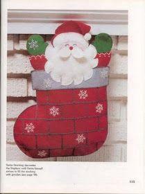 Bota de Papai Noel com PAP (DIY) e molde
