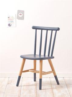 Kinder-Stuhl BLAU+GELB+ROSA