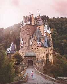 Burg Eltz, one of the most beautiful fairytale castles in Ge…, America destinations - Travel Destinations Backpacking Europe, Travelling Europe, Beautiful Castles, Most Beautiful, Lichtenstein Castle, Germany Castles, Fairytale Castle, By Train, Medieval Castle
