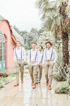 Bow Ties Braces Groom Groomsmen Simple Elegant Luxe Blush Pink Wedding http://katymelling.com/