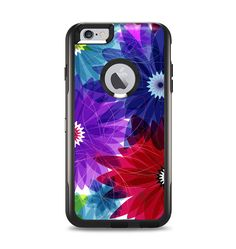 The Boldly Colored Flowers Apple iPhone 6 Plus Otterbox Commuter Case Skin Set from Design Skinz