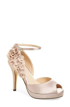 Free shipping and returns on Menbur 'Lavatera' Platform Pump (Women) at Nordstrom.com. Gauzy, crystal-embellished flowers add an eye-catching feminine flourish to a lace and satin peep-toe pump set on a slim, wrapped platform.