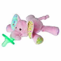"Mary Meyer Wubbanub Pacifier, Ella Bella Elephant by Mary Meyer. $14.98. Soft and cuddly, with arms and legs that are easy for little hands to hold on to. 100% Polyester. Look for all of mary meyer's ella bella items for baby gifts sure to please. Mary meyer has been making toys that are fun and safe for more than 75 years. Wubbanub pacifiers are the soft and cuddly pacifier that not only won't get lost, it will be loved. Ella bella elephant wubbanub is 6"" long and a..."