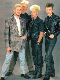 Depeche Mode:Dave Gahan, Martin Gore, Andy Fletcher, Alan Wilder. Sharp dressers!