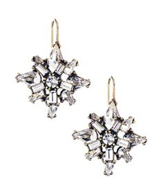 Chloe + Isabel Art Deco Starburst Earrings- Star-shaped crystal drops pack a punch, but they aren't too overwhelming for daytime.