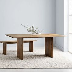 Crafted of durable, solid mango wood that beautifully shows off the natural grain of the wood, our Anton Dining Table is an updated take on the versatile farmhouse table. This substantial table is perfect for family dinners, game nights and more. Oversized Furniture, Small Furniture, Bedroom Furniture, Modern Furniture, Solid Wood Furniture, Office Furniture, Expandable Dining Table, Mid Century Dining, Solid Wood Dining Table