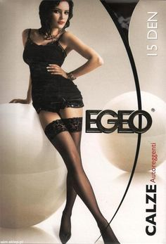 Exclusive Stay Up Thigh High Stockings Lace Top Silicone Band Egeo 15 den #Egeo #Stockings