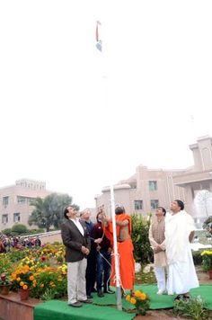Republic day swami #ramdev   acharya #balkrishna #bharatswabhiman
