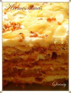 Kekszes krémes-almás süti