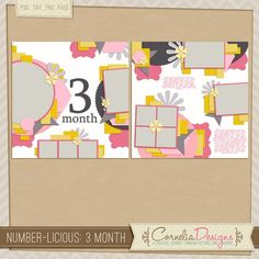Number-licious: 3 Month by Cornelia Designs