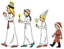 traditional st. lucia day swedish holiday celebration