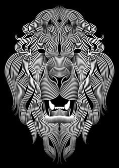 Creative Cloud Illustrator Lion by Patrick Seymour, via Behance Patrick Seymour, Digital Illustration, Graphic Illustration, Arte Bob Marley, Animal Drawings, Art Drawings, Animal Original, Plakat Design, Photo Images