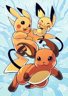 Pikachu Evolution Poster by H0lysartcorner on Etsy https://www.etsy.com/listing/475707796/pikachu-evolution-poster