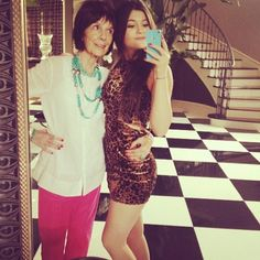 Kylie Jenner and Grandma TBT
