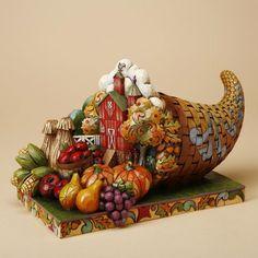 "Heartwood Creek - Harvest: Cornucopia Diorama - ""Country Bounty"" (2010) | Jim Shore Designs, $86.00 #Autumn #Thanksgiving #StoneResin"